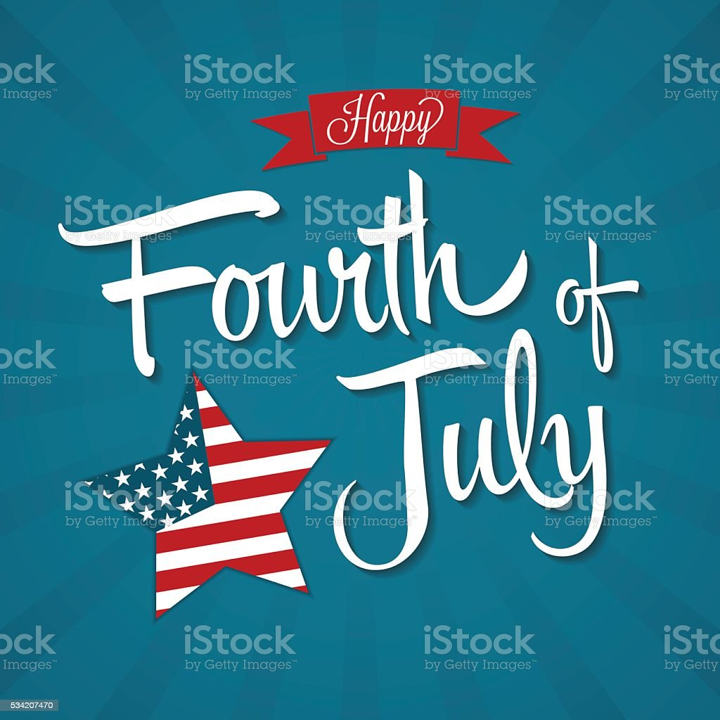 Happy Fourth of July vector art illustration