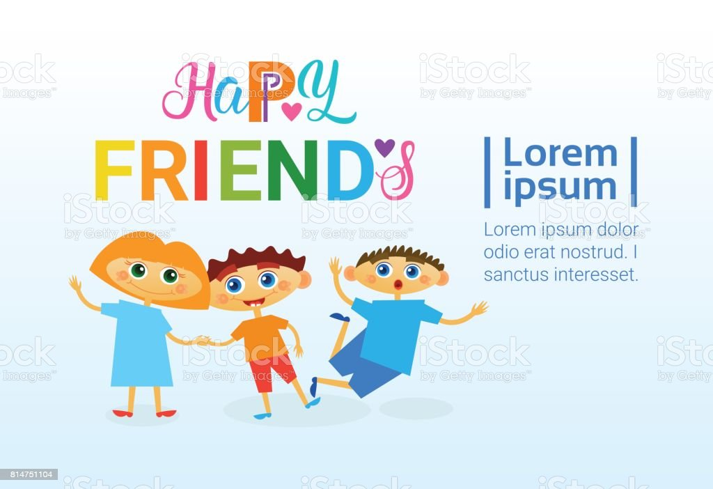 Happy friendship day greeting card friends holiday banner stock happy friendship day greeting card friends holiday banner royalty free happy friendship day greeting card m4hsunfo