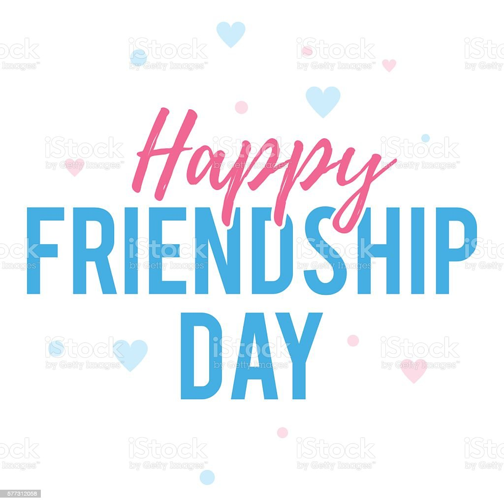 Happy Friendship Day Greeting Card Stock Vector Art More Images Of
