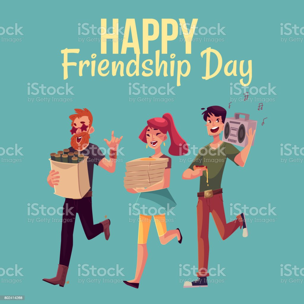 Happy friendship day greeting card stock vector art more images of happy friendship day greeting card royalty free happy friendship day greeting card stock vector art m4hsunfo