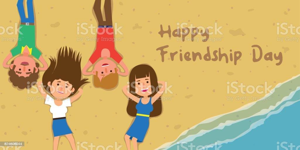 Happy Friendship Day! vector art illustration