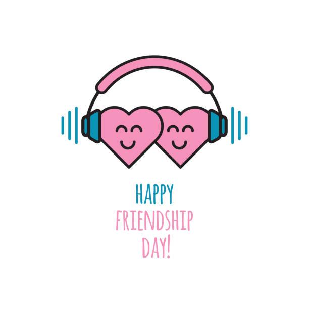 Happy friendship day vector art illustration