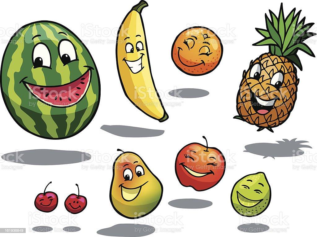 Happy Fruit royalty-free stock vector art