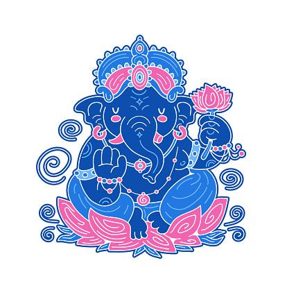 Happy Ganesh Chaturthi card concept