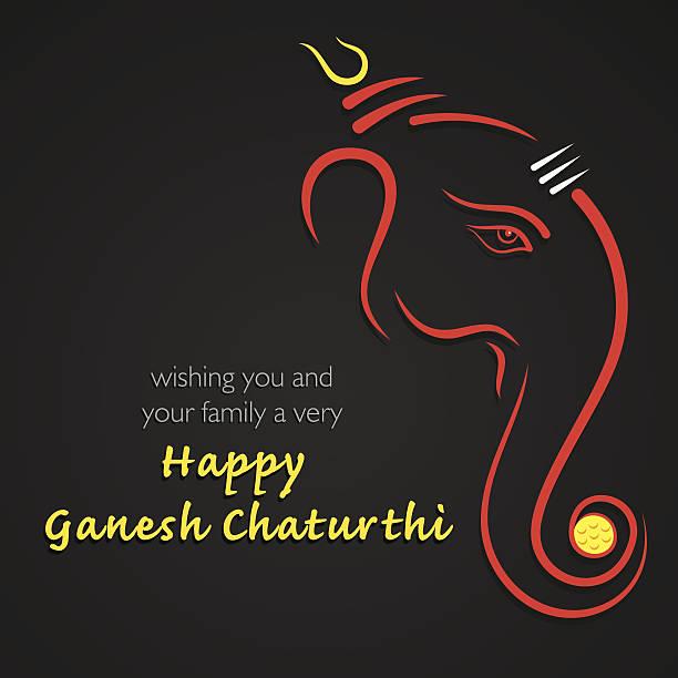 happy ganesh chaturthi festival hintergrund - ganesh stock-grafiken, -clipart, -cartoons und -symbole