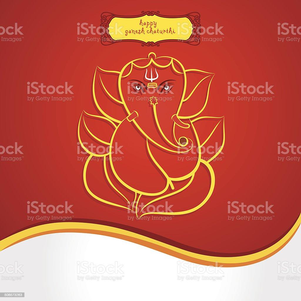 happy ganesh chaturthi festival greeting card background