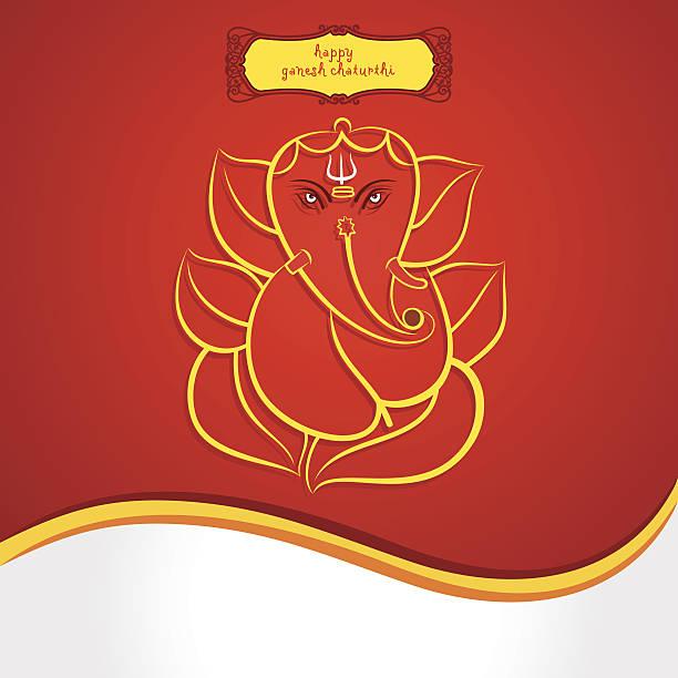 happy ganesh chaturthi festival grußkarte hintergrund - ganesh stock-grafiken, -clipart, -cartoons und -symbole
