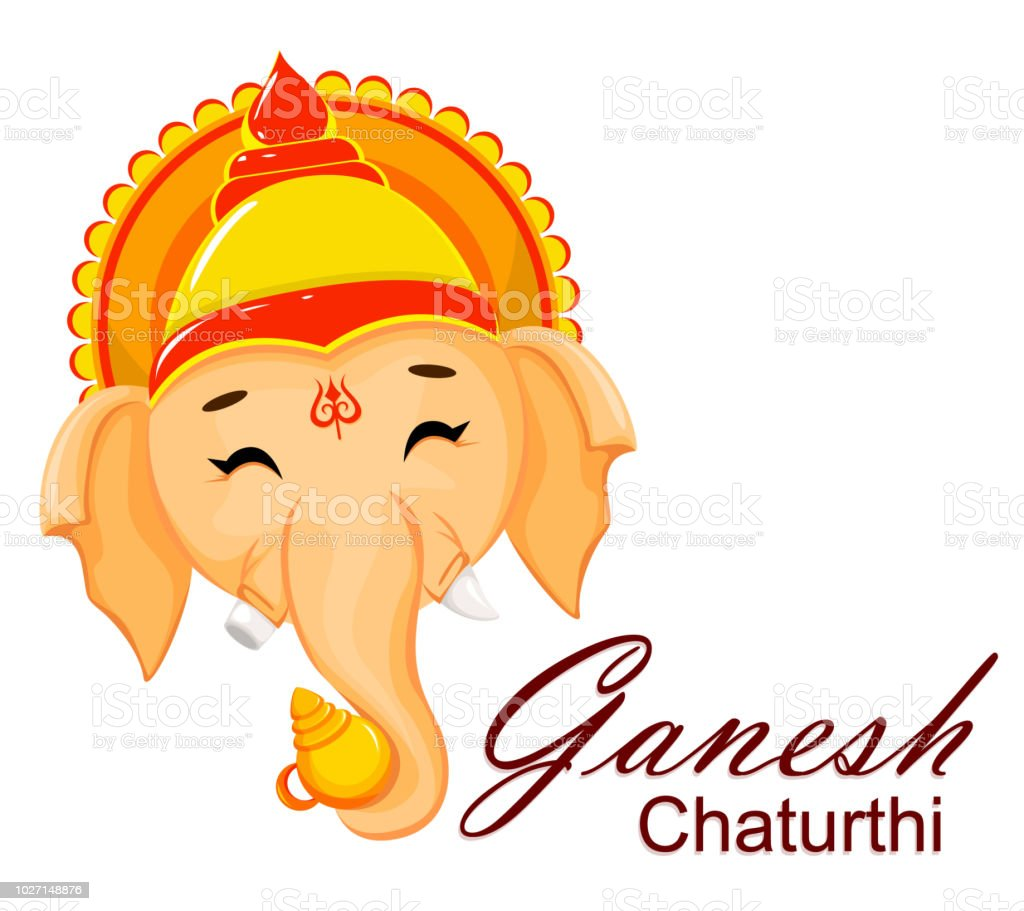 Happy Ganesh Chaturthi Greeting Card Stock Vector Art More Images