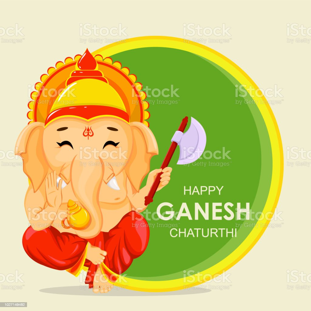 Happy ganesh chaturthi greeting card stock vector art more images happy ganesh chaturthi greeting card royalty free happy ganesh chaturthi greeting card stock vector art m4hsunfo