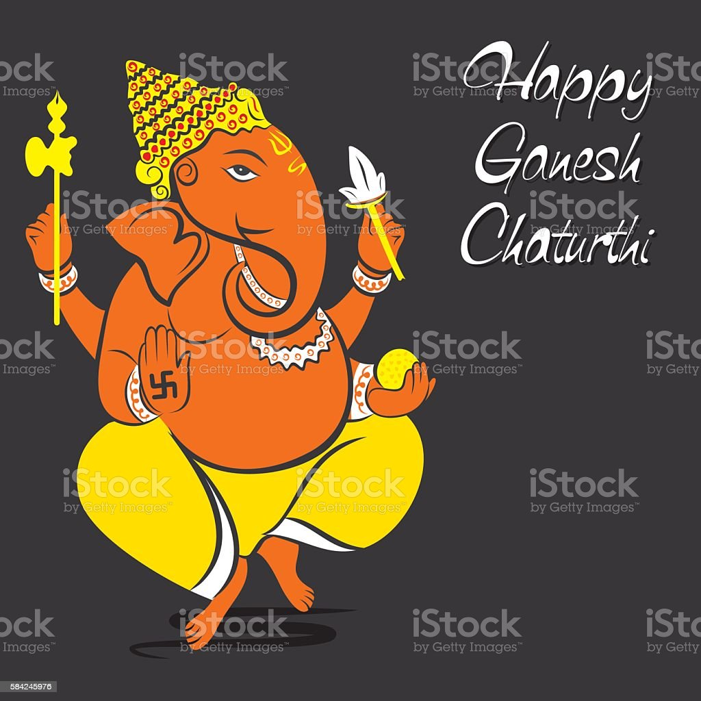 happy ganesh chaturthi greeting design