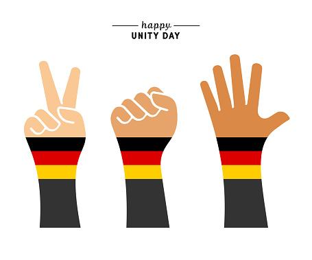 Happy German Unity Day Illustration