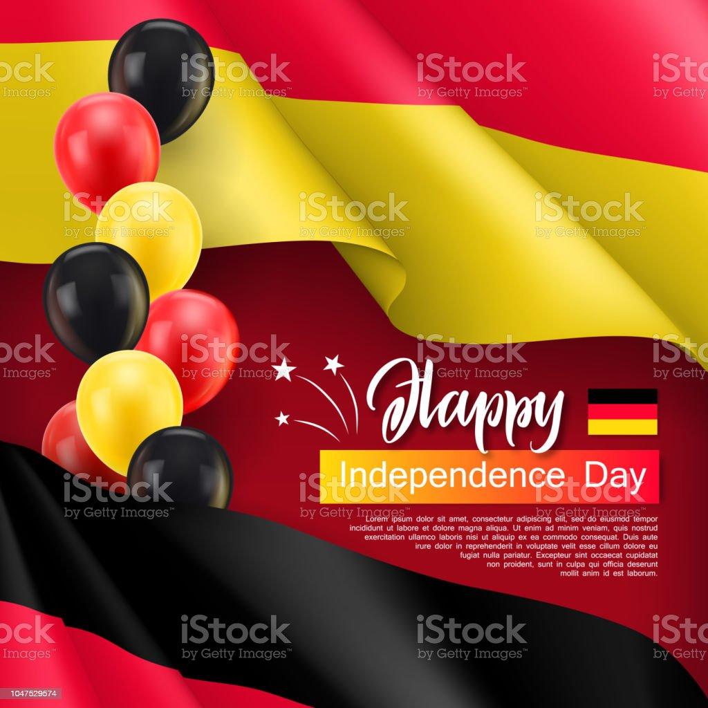 1ccdc45926 Feliz cartaz festivo independência Alemanha de dia ilustração de feliz  cartaz festivo independência alemanha de dia