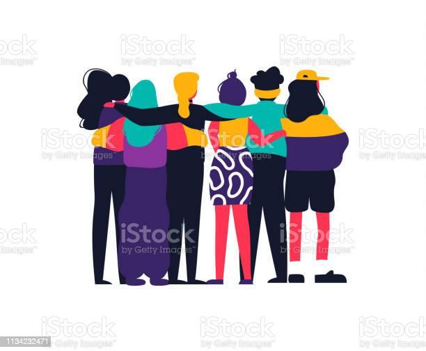 Happy girl friend group hug on isolated background vector id1134232471?b=1&k=6&m=1134232471&s=612x612&h=g9luadijv7zlbirzul icgowrsw scqnvpslhgcxpl4=