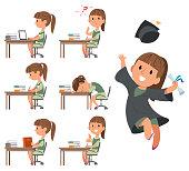 istock Happy Girl Her Graduation Day. School days 1176081495