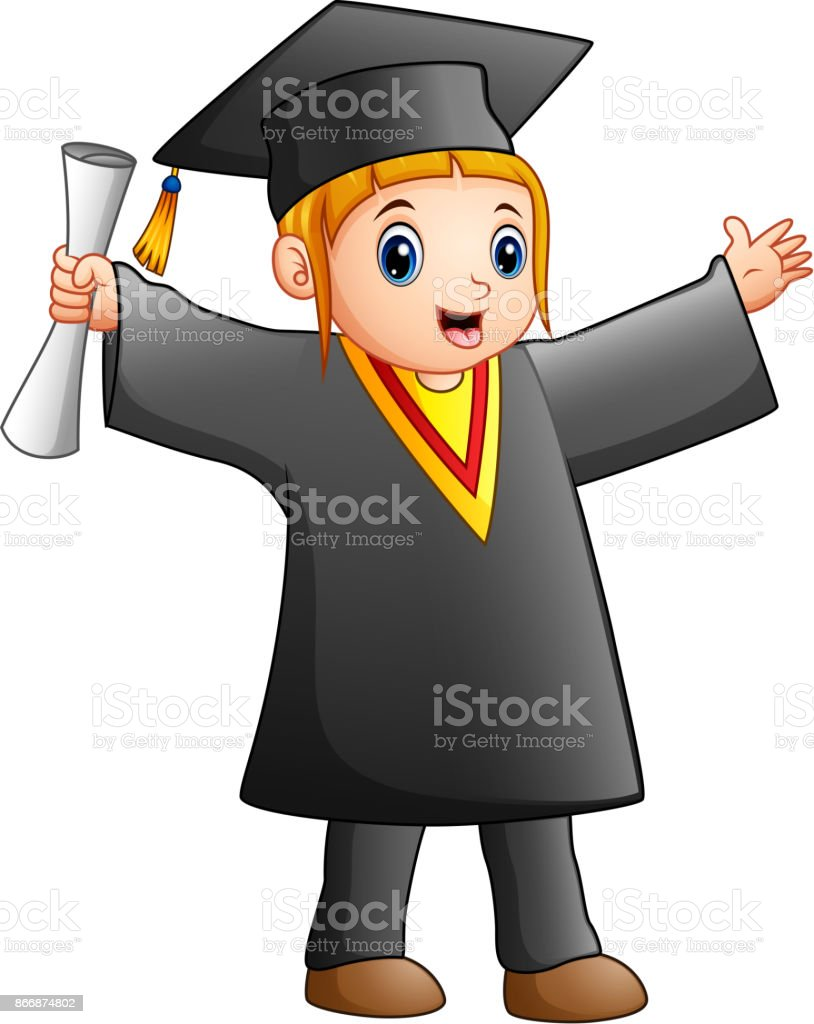royalty free preschool graduation cap and gown clip art vector rh istockphoto com cap and gown clip art for graduation green cap and gown clipart