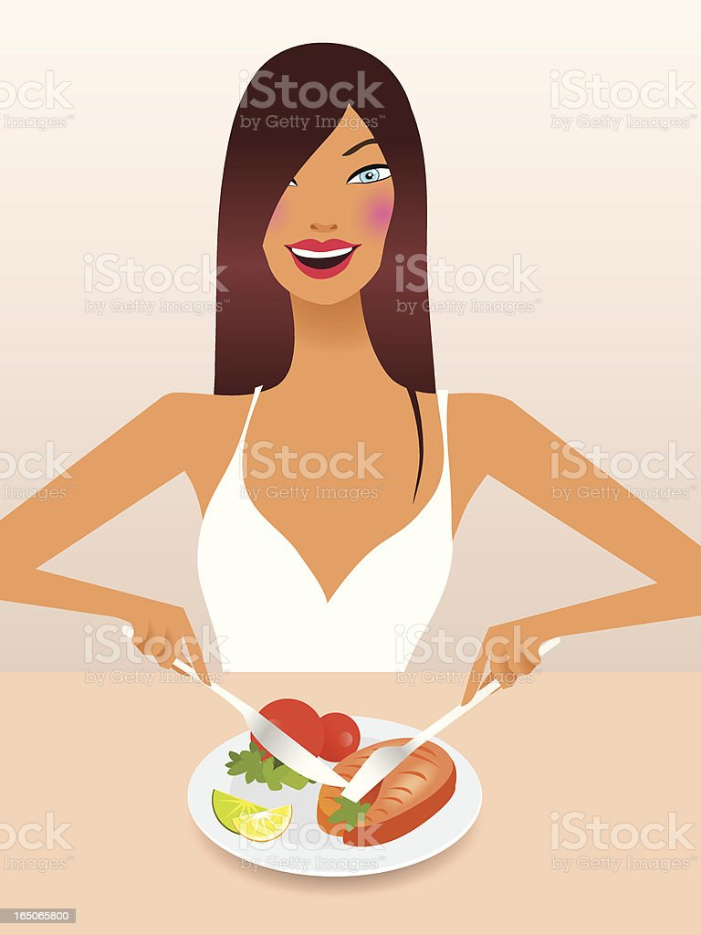 Happy girl on a healthy diet royalty-free happy girl on a healthy diet stock vector art & more images of adult