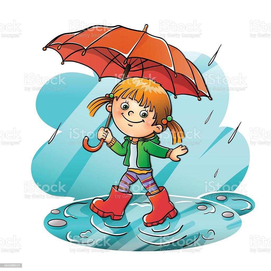 Znalezione obrazy dla zapytania clipart deszcz dziecko