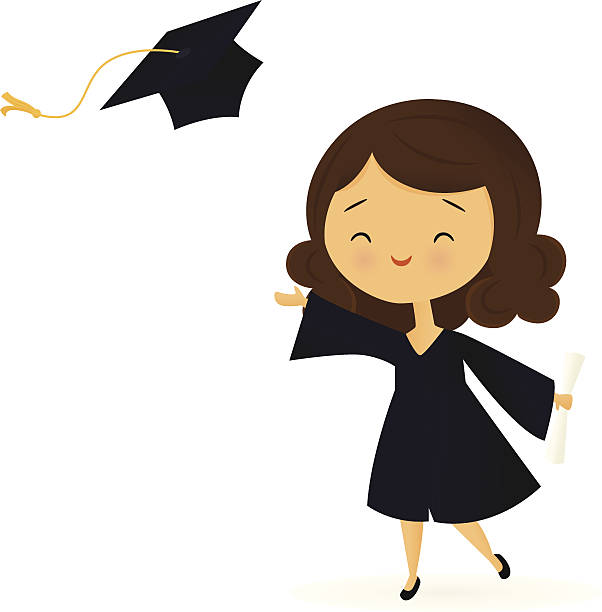 Happy Graduate vector art illustration