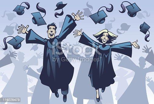 istock Happy Graduates! 119225473