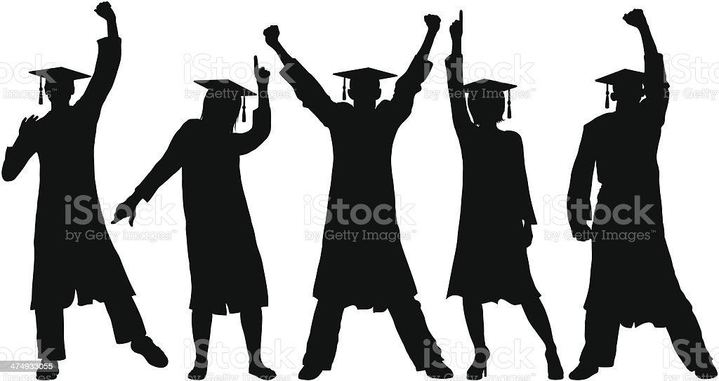 Happy Graduates vector art illustration