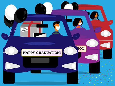 Happy Graduation car parade