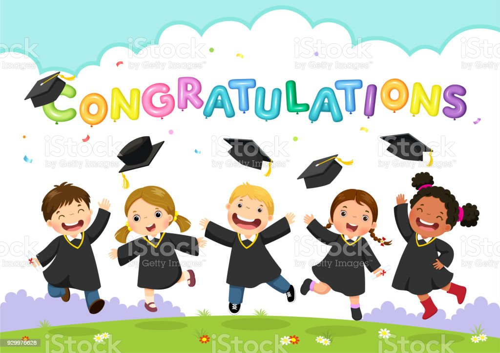 royalty free preschool graduation cap and gown clip art vector rh istockphoto com preschool graduation clipart black and white preschool graduation clipart 2018