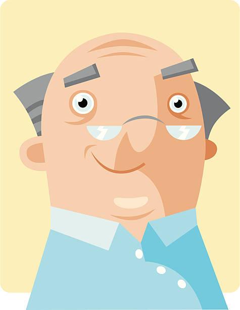 happy gramps - old man smile cartoon stock illustrations, clip art, cartoons, & icons