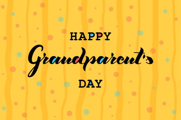mutlu grandparent gün vektör çizim. - google stock illustrations