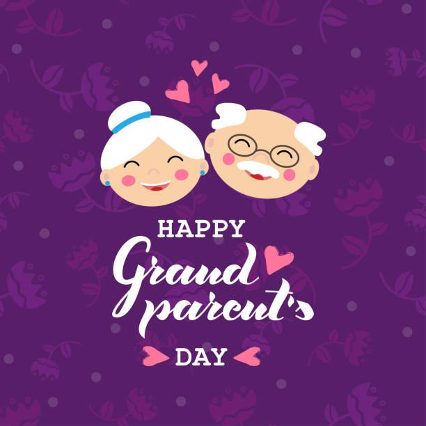 ilustraciones, imágenes clip art, dibujos animados e iconos de stock de ilustración vectorial feliz día de los abuelos. - abuelo