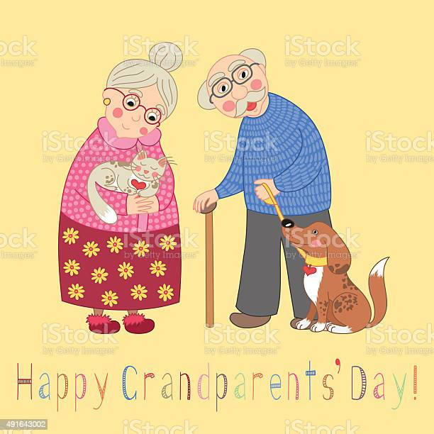 Happy grandparents day card poster with cute darling grandmother and vector id491643002?b=1&k=6&m=491643002&s=612x612&h=ahx ulkmjzbh9hfb 7jthxmevy   9jgarsagjuqwwm=