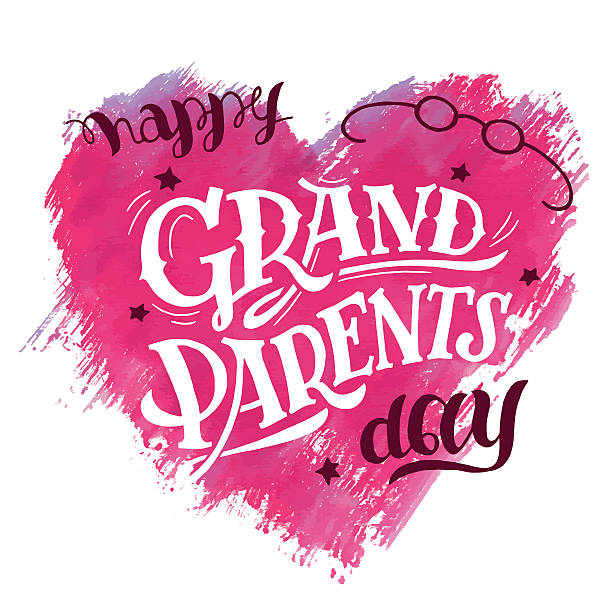 Happy Grandparents Day card vector art illustration