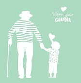 Happy Grandparents Day flyer, banner or poster