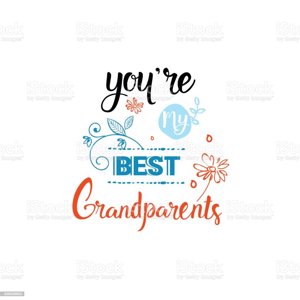 Happy grandparents day greeting card banner text over white happy grandparents day greeting card banner text over white background royalty free stock vector art m4hsunfo