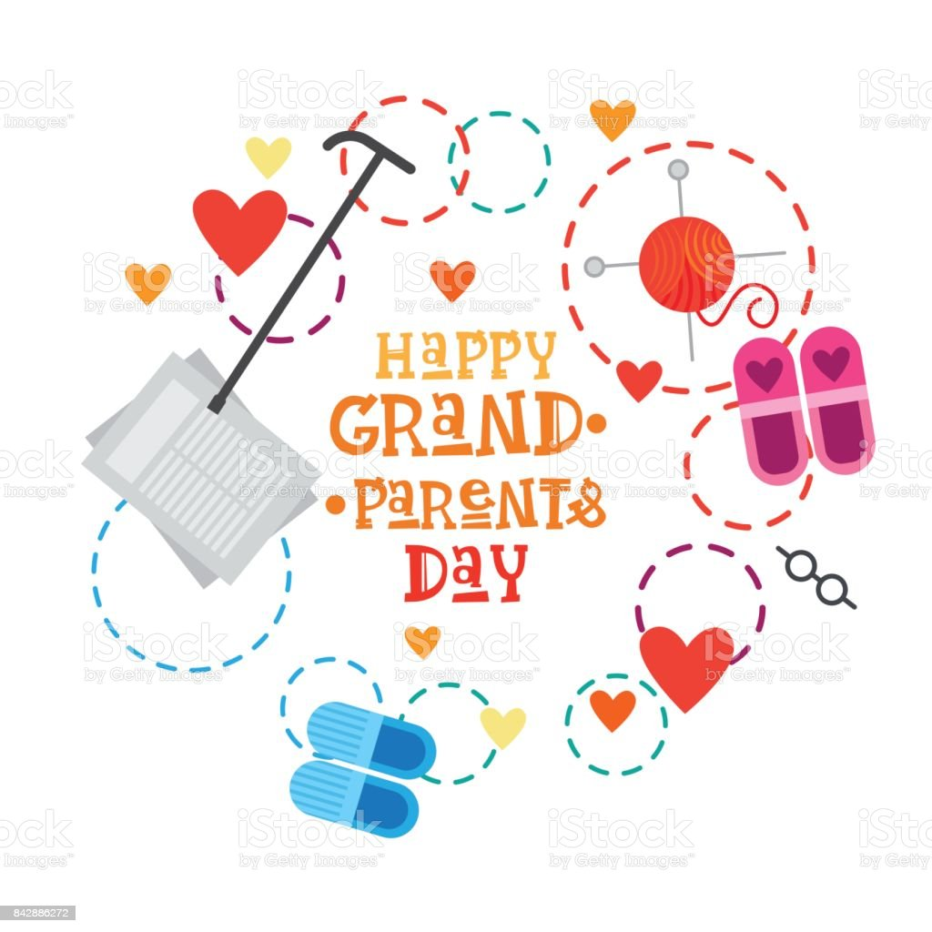 Happy Grandparents Day Greeting Card Banner Stock Vector Art