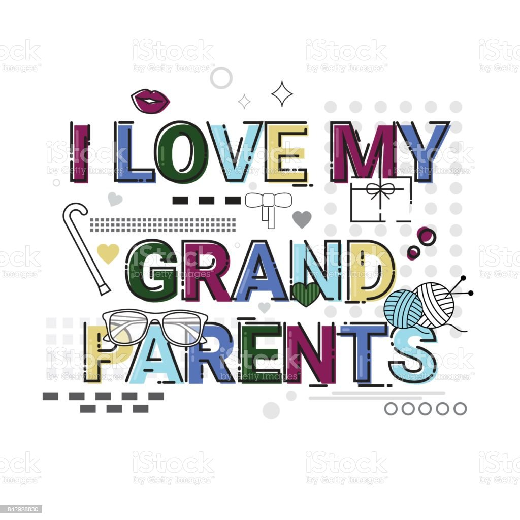 Happy Grandparents Day Greeting Card Banner Stock Vector Art More