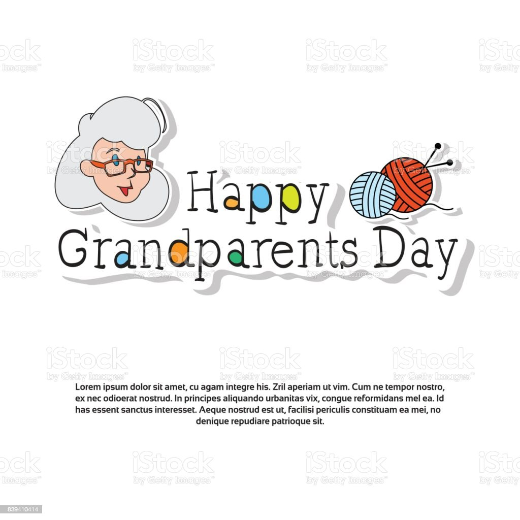 Happy grandparents day greeting card banner with copy space stock happy grandparents day greeting card banner with copy space royalty free happy grandparents day greeting m4hsunfo