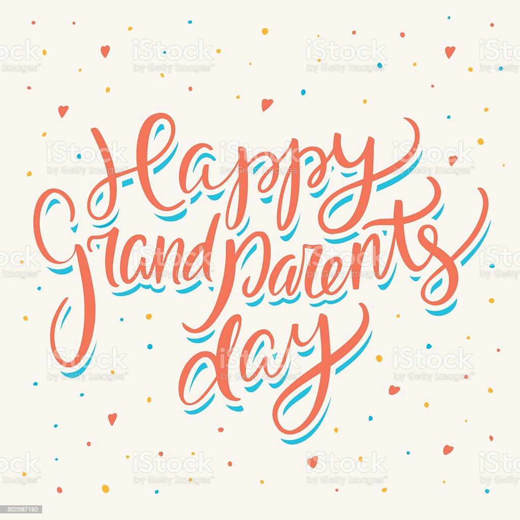 Feliz Dia dos avós. Cartão de Felicitação. - ilustração de arte em vetor