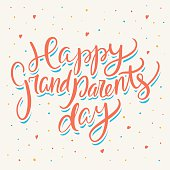 Happy grandparents day. Greeting card.