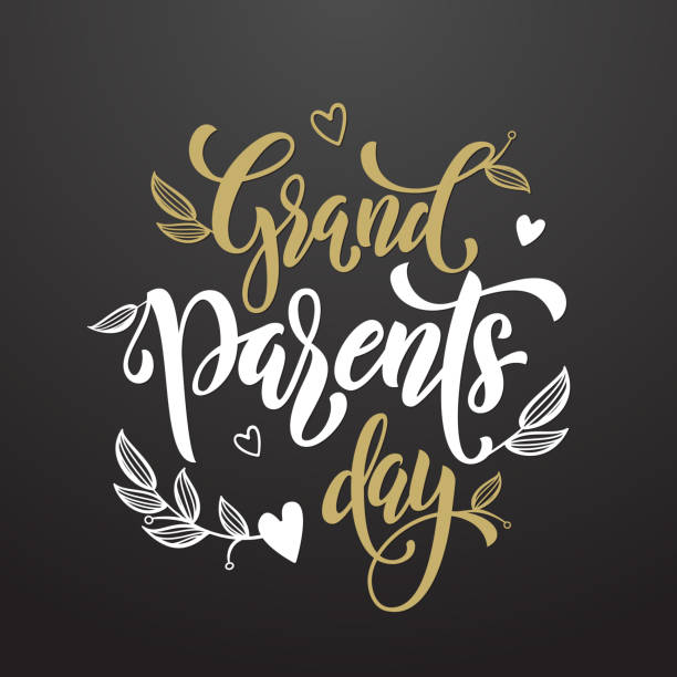 Happy Grandparents Day greeting card vector art illustration