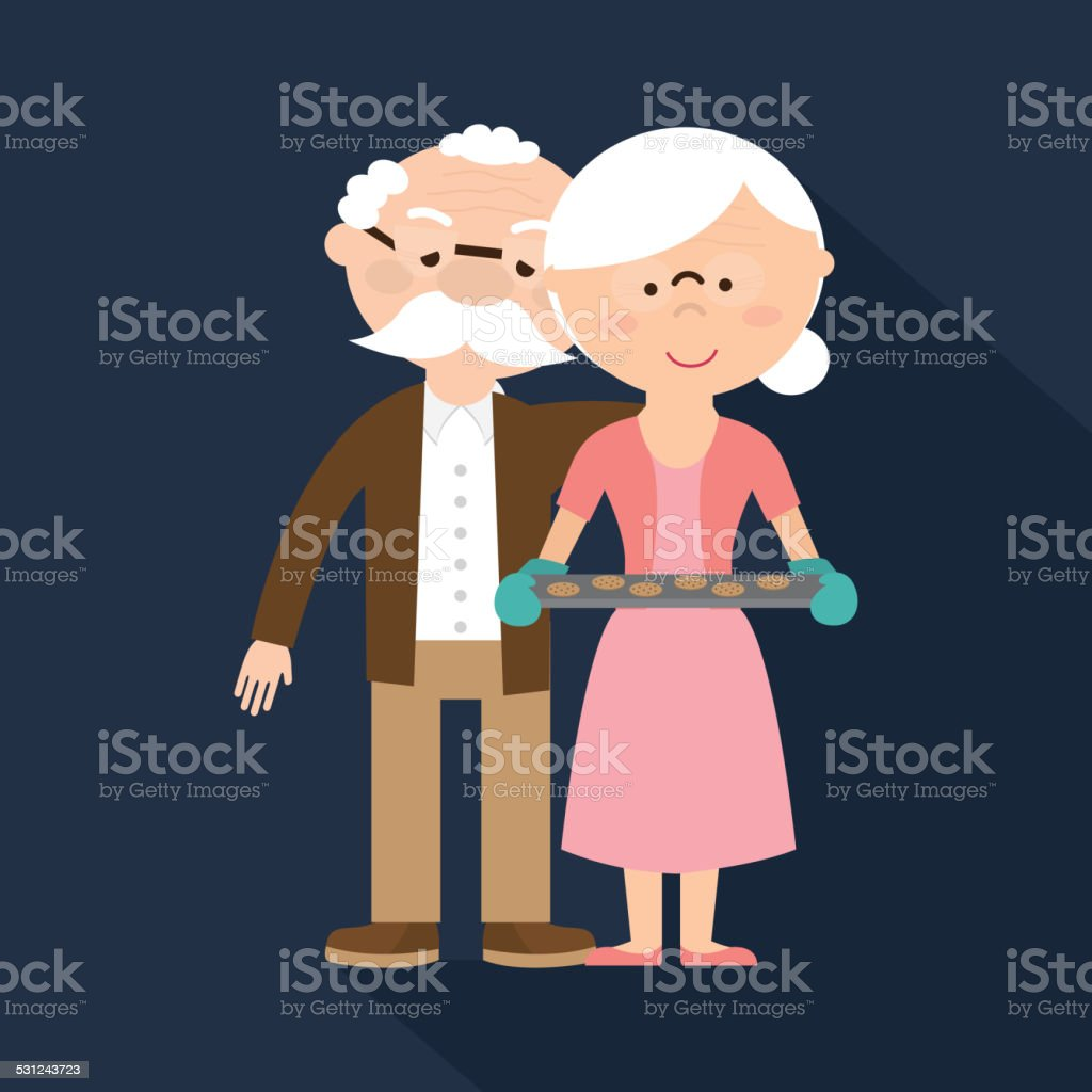 Happy Grandparents Day vector art illustration
