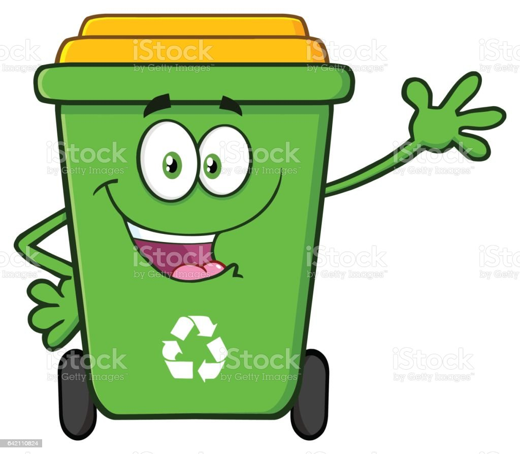 royalty free trash can mascot clip art vector images rh istockphoto com Laughing Smiley Face Clip Art Confused Smiley Face Clip Art