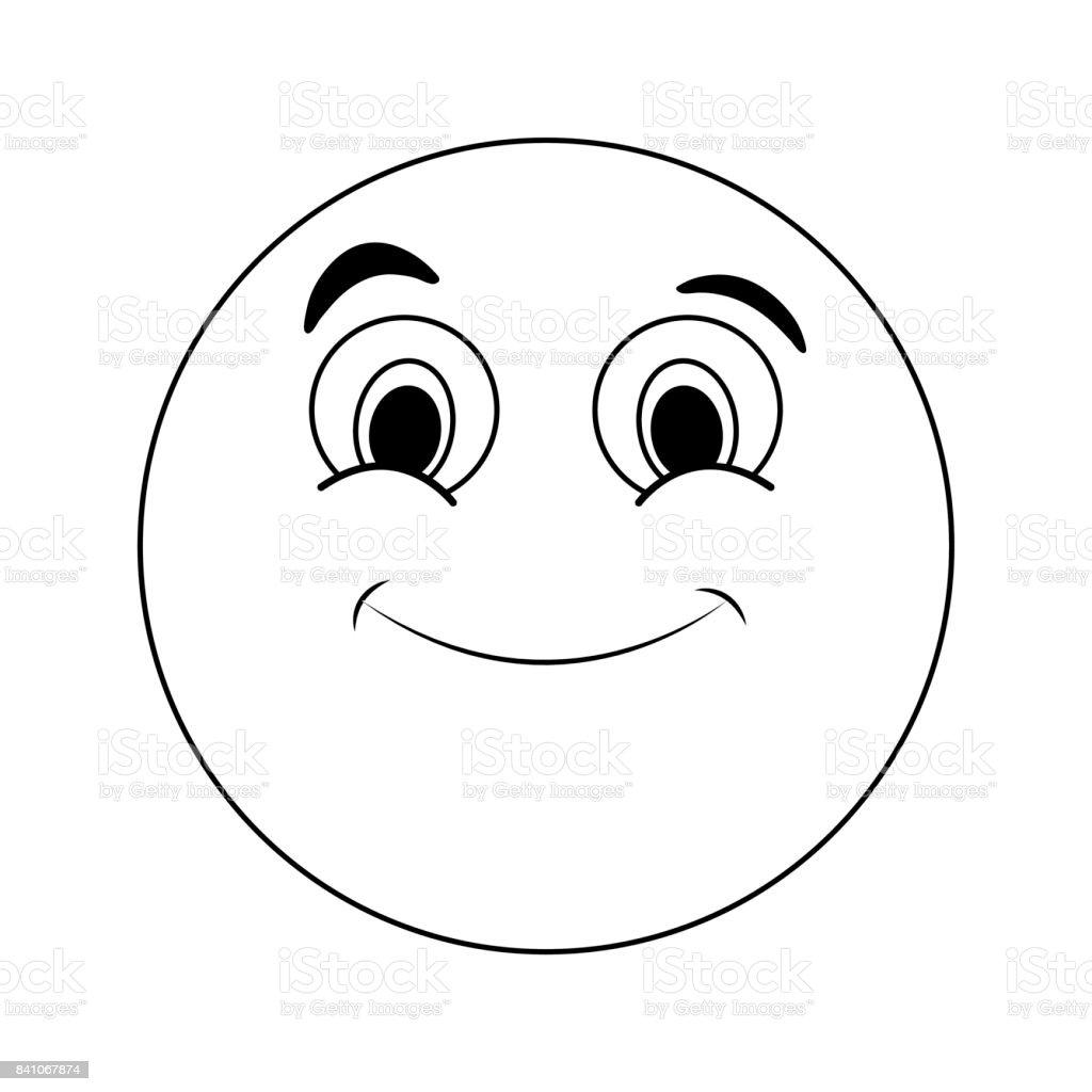 instant messaging-Symbol Imag glücklich Grinsen emoji – Vektorgrafik