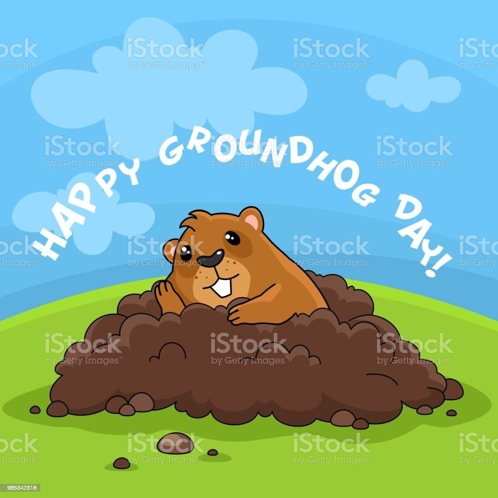 Joyeux jour de la marmotte et l'ennui. - clipart vectoriel de Bonheur libre de droits