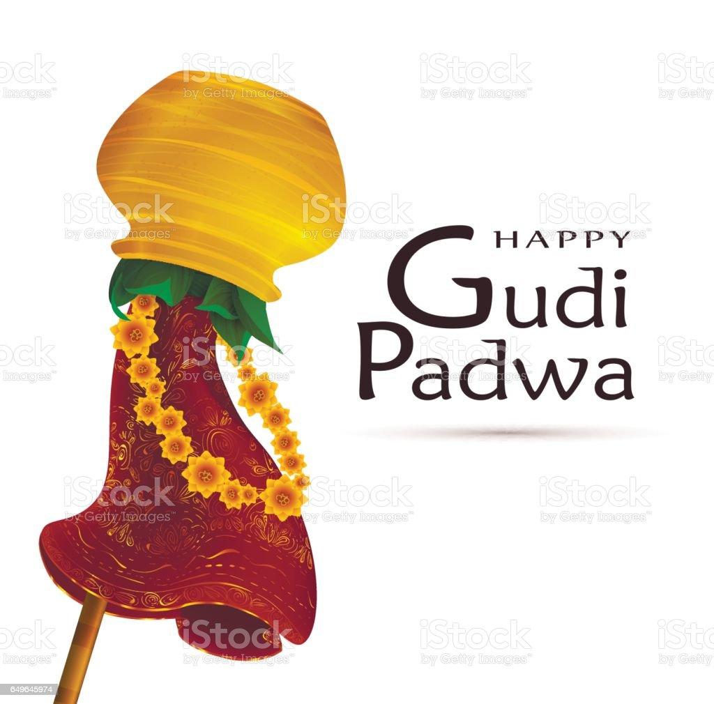 Happy Gudi Padwa Celebration Stock Vector Art More Images Of