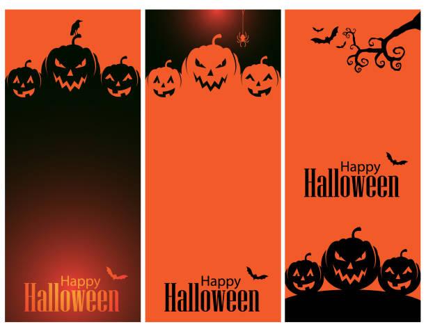 해피 할로윈 배경 - halloween stock illustrations