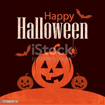 Vector of Happy Halloween background with grunge textured. Empty space for edit info. EPS Ai 10 file format.