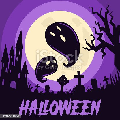 istock Happy Halloween background 1282790273