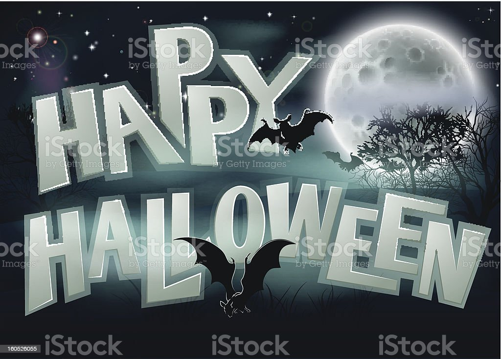 Happy Halloween Background royalty-free happy halloween background stock vector art & more images of back lit
