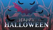 Happy Halloween banner. Party invitation