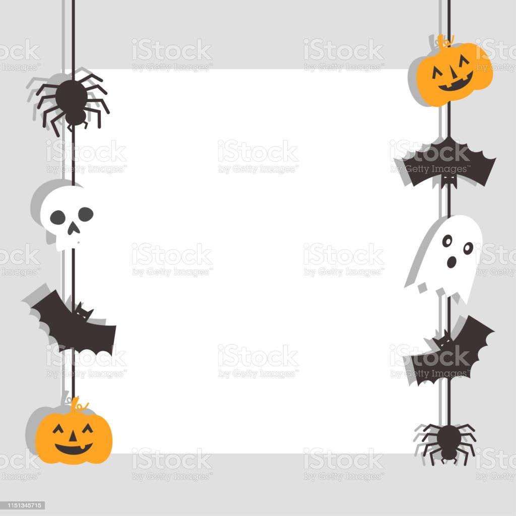 Happy Halloween Bannière Avec Chauvesouris Araignée